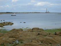 Lighthouse at Barfleur Stock Photos