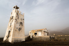 Lighthouse Barril, Cape Verde Royalty Free Stock Photos
