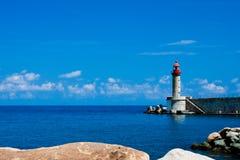 Lighthouse in bastia Royalty Free Stock Photos