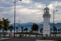 Lighthouse in Batumi Stock Photo