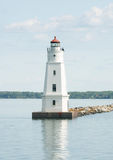 Lighthouse in the bay - 3. A close up shot of a Lighthouse Royalty Free Stock Photos