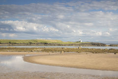 Lighthouse and Beach, Elie, Fife, Scotland Stock Photos