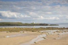 Lighthouse and Beach, Elie, Fife, Scotland Stock Photography