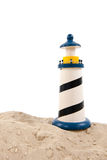 Lighthouse at the beach Stock Photography