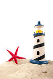 Lighthouse at the beach Stock Images
