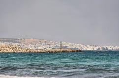 Lighthouse on the beach near Hammamet, Tunisia, Mediterranean Se Stock Photo