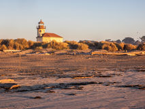 Lighthouse at beach Royalty Free Stock Image