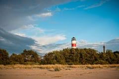 Lighthouse on the beach Royalty Free Stock Photos