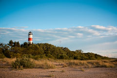 Lighthouse on the beach Royalty Free Stock Photo