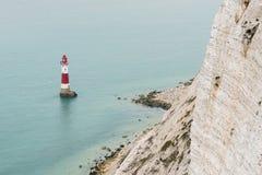 Lighthouse of Beachy Head near Eastbourne Stock Photos