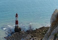 Lighthouse at Beachy Head near of Newhaven Stock Photos