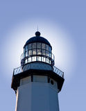 Lighthouse Beacon. With glow off center for  text used for background Stock Image
