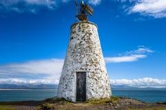 Lighthouse Beacon. The small Twr Bach lighthouse on the island of  Llanddwyn, Anglesey Stock Photos