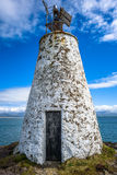 Lighthouse Beacon. The small Twr Bach lighthouse on the island of  Llanddwyn, Anglesey Royalty Free Stock Images