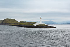 Lighthouse beacon white Scotland hebrides Stock Images