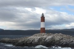 Lighthouse in the Beagle channel. Stock Photography