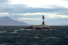 Lighthouse in the Beagle channel. Tierra Del Fuego. Argentina Stock Image