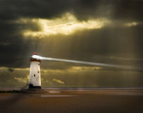 Lighthouse with beam royalty free stock image