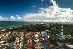 The lighthouse and the beautiful city of Olinda Royalty Free Stock Photo