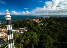 The lighthouse and the beautiful city of Olinda Stock Photos
