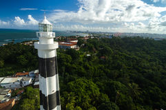 The lighthouse and the beautiful city of Olinda Royalty Free Stock Images