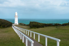 Lighthouse. The beautiful  white lighthouse of cape Otway Stock Image