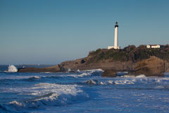 Lighthouse of Biarritz Stock Images
