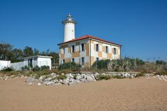 Lighthouse in Bibione Royalty Free Stock Photos