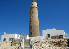 Lighthouse of Big Brother, Brother Islands. Red Sea, Egypt Stock Image