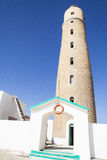 Lighthouse on the big brother island. Red sea,Egipt stock photos
