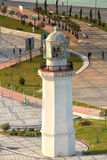 Lighthouse & Bike Path Stock Photography