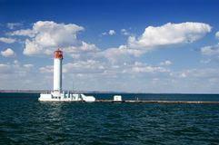Lighthouse in the black sea Stock Image
