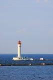 Lighthouse in the black sea. Operating lighthouse. Odessa. Ukraine. Black sea Stock Photos