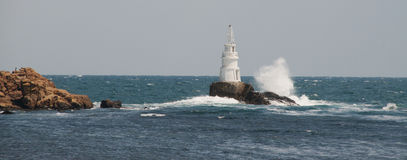 Lighthouse in Black Sea Stock Images