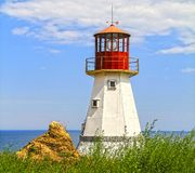 Lighthouse on the Black Sea coast,. Built for shooting a feature film, decorative, non-operative royalty free stock images