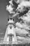 Lighthouse in black and white Royalty Free Stock Photo
