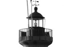 Lighthouse, black and white colors Stock Images