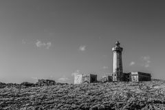 Lighthouse in black&white Stock Images