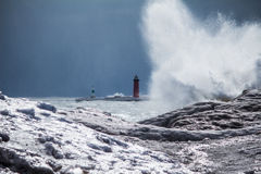 Lighthouse Blast Royalty Free Stock Photos