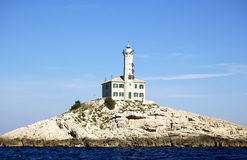 Lighthouse Blitvenica, Croatia Royalty Free Stock Photo