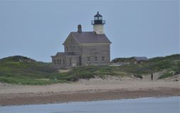 Lighthouse on block island ocean state royalty free stock photo