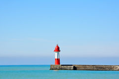 Lighthouse on the blue Royalty Free Stock Images