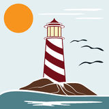 lighthouse blue art Royalty Free Stock Images