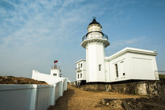 Lighthouse with blue sky Royalty Free Stock Image
