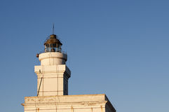 Lighthouse on blue sky Stock Photo