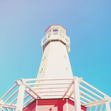 Lighthouse with blue sky, retro effect Stock Photography
