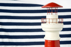 Lighthouse with blue strips Stock Image
