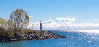 Lighthouse. In Bluffers Park in Toronto Ontario Canada Stock Image