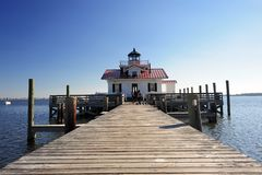 Lighthouse with boardwalk Stock Photos
