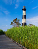 Lighthouse Boardwalk Stock Photo